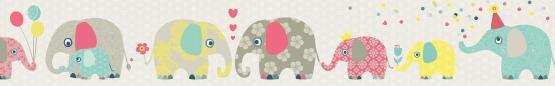 Anna Wand Bordüre Elefanten