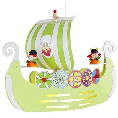 Elobra Pendelleuchte Wikingerschiff mint-grün