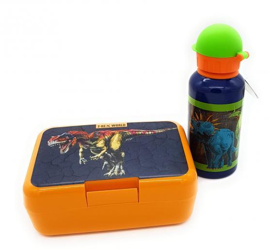 Die Spiegelburg Dino T-Rex Wold Brotdose und Trinkflasche 400 ml