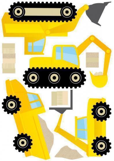 Anna Wand Wansticker Baustelle gelb