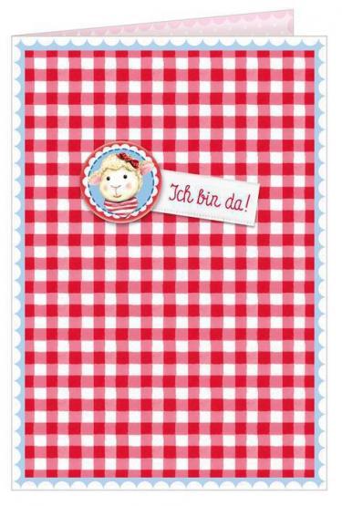 Die Spiegelburg Grußkarte Ich bin da! Baby Glück Lämmchen