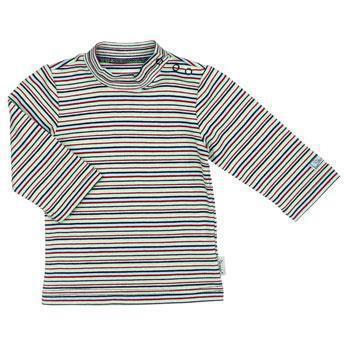 Sterntaler Basic-Langarmshirt geringelt rosa/rot