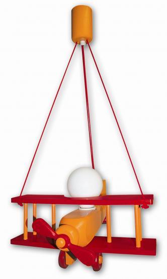 Waldi Hängeleuchte Flugzeug orange/rot klein