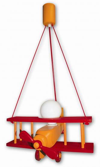 Waldi Pendelleuchte Flugzeug orange/rot groß