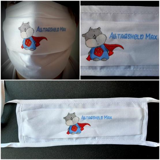 Funktions-Alltagsmaske Hamster mit Namen
