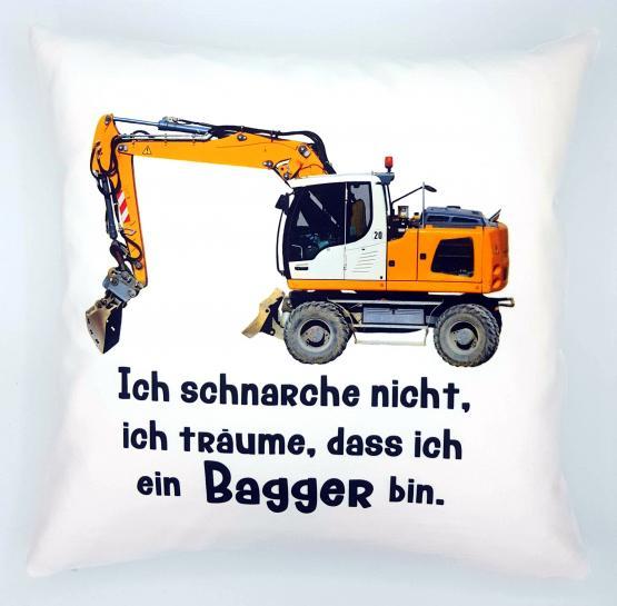 Anti-Schnarch-Kissen Bagger Spruch Ich Schnarche Nicht Geschenk Geburtstag Bauarbeiter Schnarchen (kuschelkissen Flauschig)