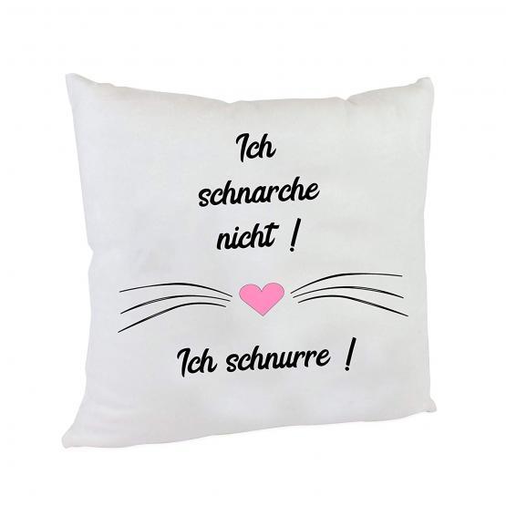 Anti-Schnarch Kissen Spruch Ich schnarche nicht! Ich schnurre