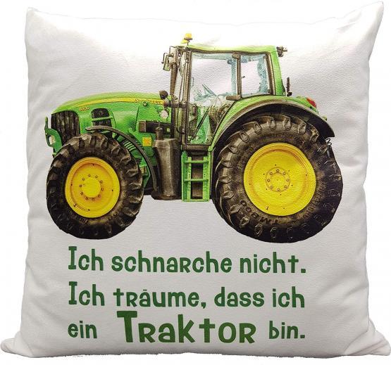 Anti-Schnarch-Kissen Traktor Trecker Spruch Ich Schnarche Nicht Geschenk Geburtstag Landwirt Bauer Schnarchen (kuschelkissen Flauschig)