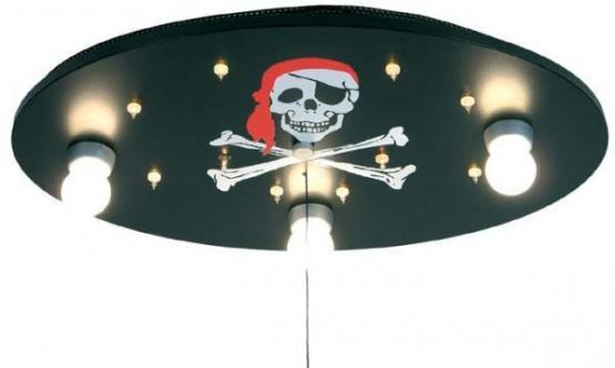 Niermann B- Ware Deckenlampe mit Schlummerlicht Totenkopf