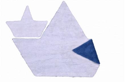 Lorena Canals Kinderteppich Boot weiß-blau