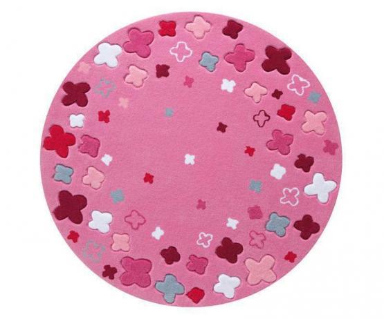 Esprit Kinderteppich Blüten-Feld rosa
