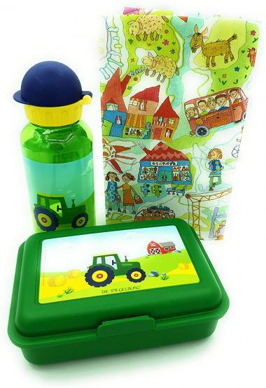 Die Spiegelburg Brotdose Traktor und Trinkflasche