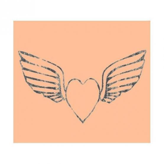 Lorena Canals Kinderteppich Herz mit Flügeln beige