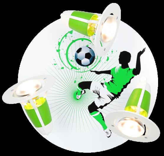 Elobra Deckenleuchte Fußball Soccer  grün