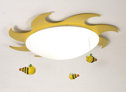 B-Ware Deckenleuchte Sonne mit Bienchen