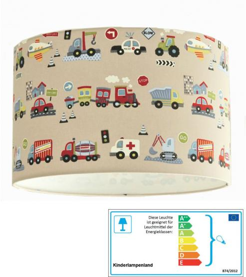 Kinderzimmerlampe Fahrzeuge beige