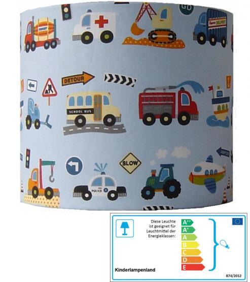 Wandlampe Fahrzeuge blau