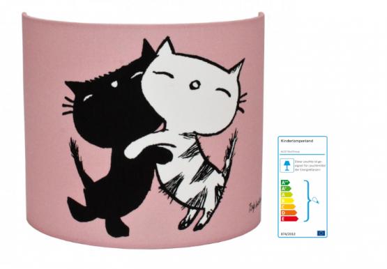 Wandlampe Katze rosa