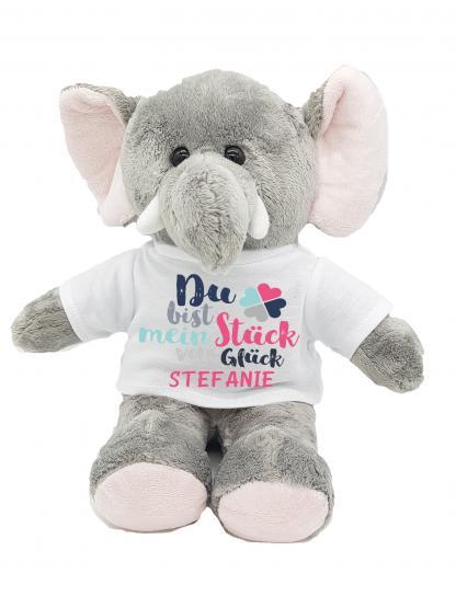 personalisierter Elefant Glück mit Wunschnamen