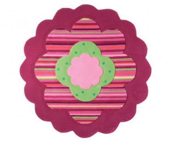 Esprit Kinderteppich Garden Party rund rosa