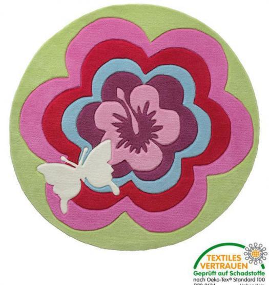 esprit kinderteppich fantasy flower rund esprit. Black Bedroom Furniture Sets. Home Design Ideas