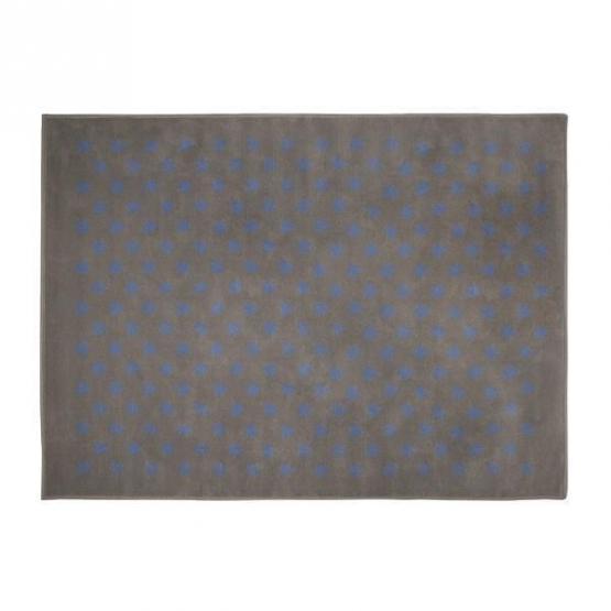 Lorena Canals Kinderteppich kleine Sterne grau blau 120 x 160 cm