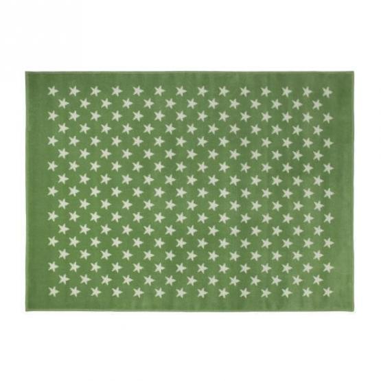 Lorena Canals Kinderteppich kleine Sterne grün