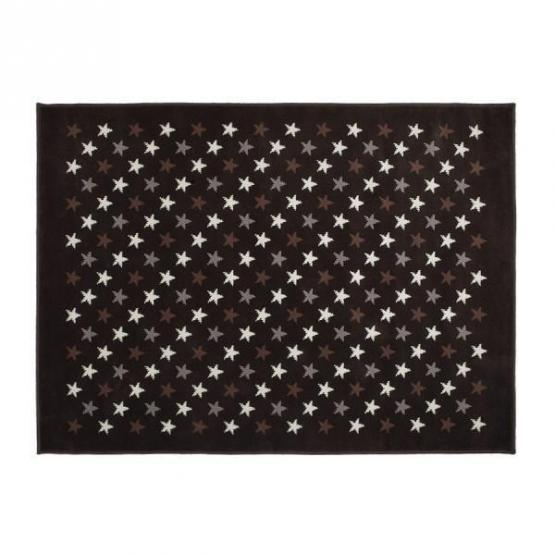Lorena Canals Kinderteppich kleine Sterne grau braun 120 x 160 cm