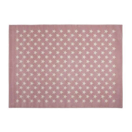 Lorena Canals Kinderteppich kleine Sterne rosa 200 x 300 cm