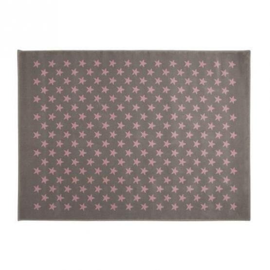 Lorena Canals Kinderteppich kleine Sterne grau rosa 200 x 300 cm