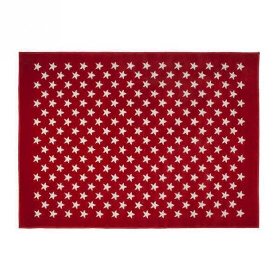 Lorena Canals Kinderteppich kleine Sterne rot 200 x 300 cm