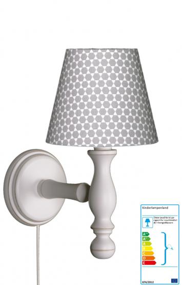 Wandlampe Hexagon Waben grauweiß