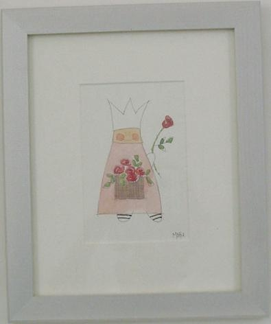 Kinderzimmerbild Prinz mit Rosen