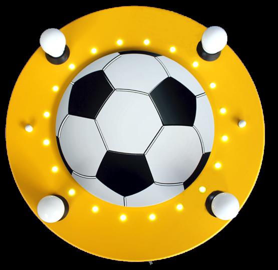 Elobra LED Kinderlampe 3D Fußball gelb
