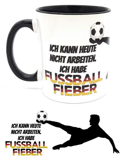 Kaffeetasse WM 2018 FUSSBALLFIEBER Sprüchetasse fürs Büro