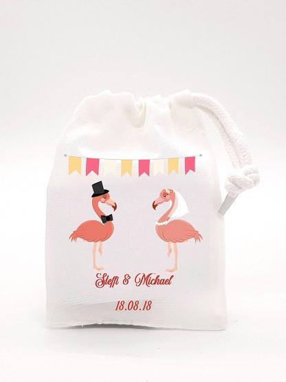 Geschenkverpackung für Geld Hochzeitsgeschenk Brautpaar, Flamingo Geldgeschenk