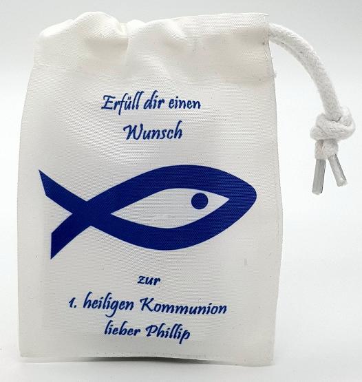 Geschenkverpackung für Geld Fisch Kommunion