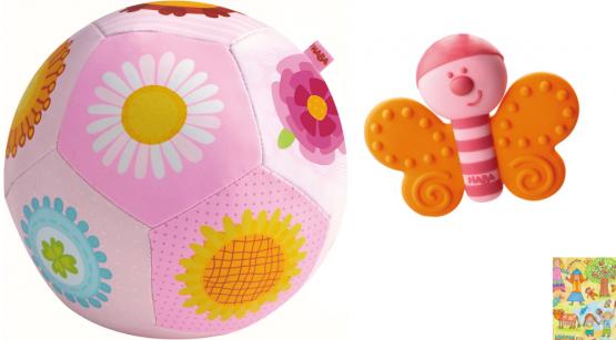 Haba Geschenkset Babyball Blumenzauber und Greifling Schmetterling