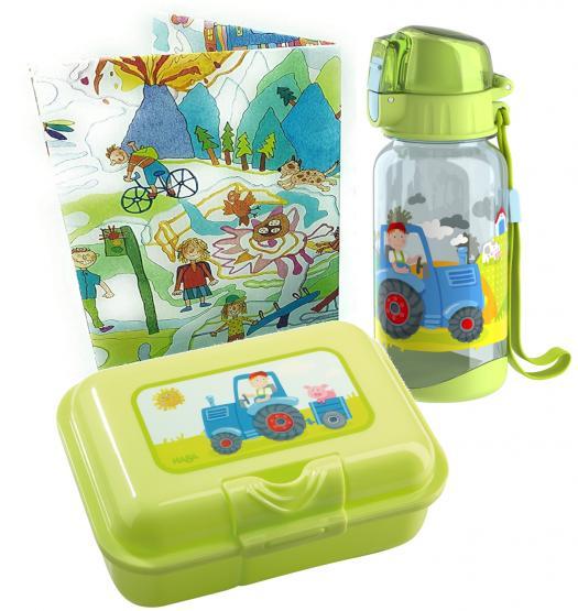 Haba Brotdose und Trinkflasche Traktor