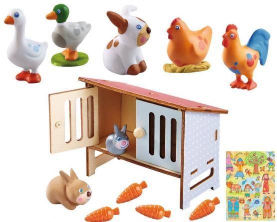 Haba Little Friends Hasenstall und Kleintiere im Set