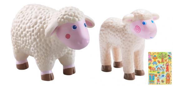 Haba Little Friends Schaf und Lamm im Set