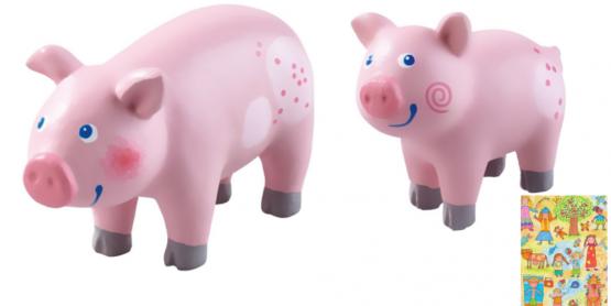 Haba Little Friends Schwein und Ferkel im Set