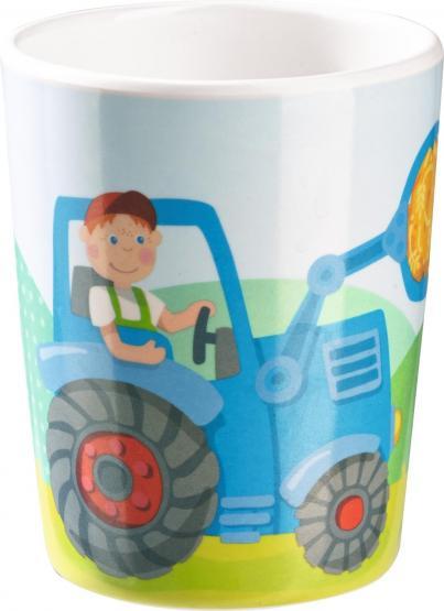 Haba melamin becher traktor 302815 haba kindergeschirr for Traktor lampe kinderzimmer
