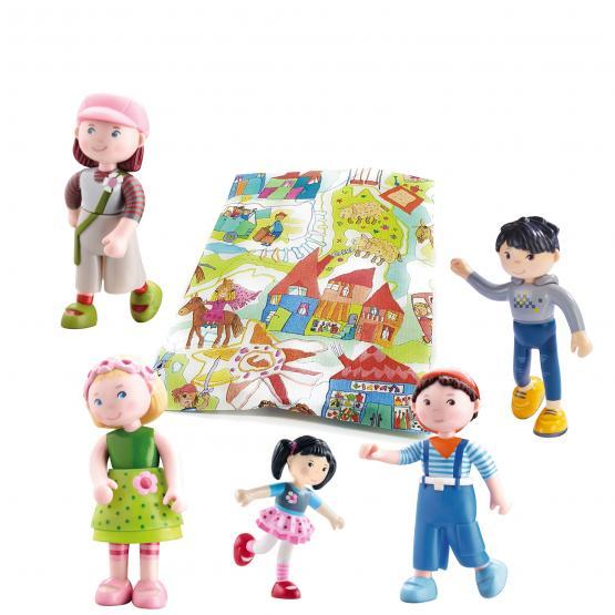 Haba Biegepuppen Little Friends Spielset 5-teilig