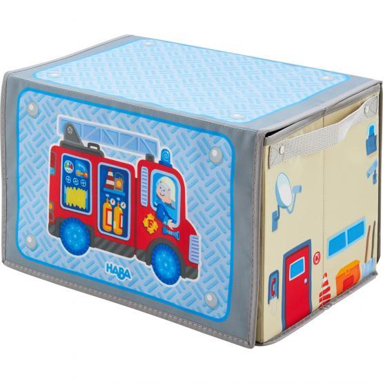 Haba Aufbewahrungsbox Feuerwehr inkl. 3 Fahrzeuge