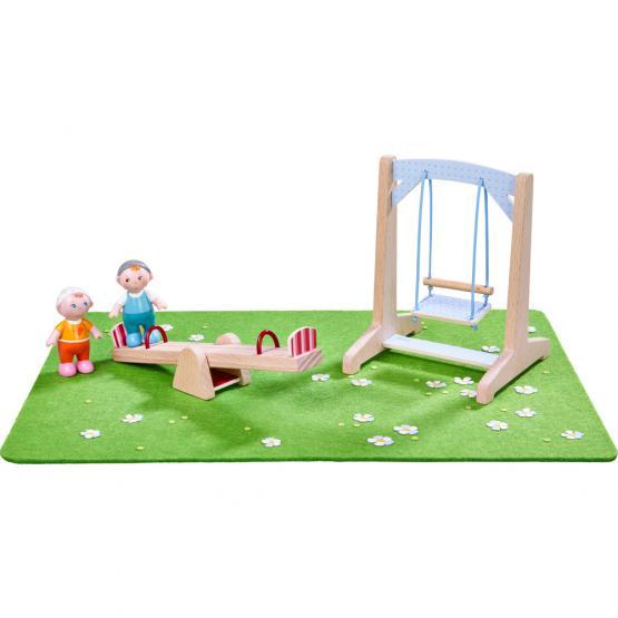 Haba Little Friends Spielplatz, Baumhaus und Sandkasten