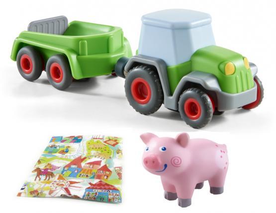 Haba Traktor mit Anhänger und Ferkel