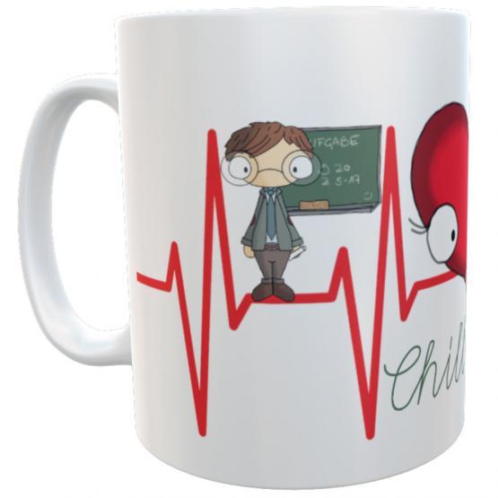 Tasse Lehrer chill mal Kaffetasse