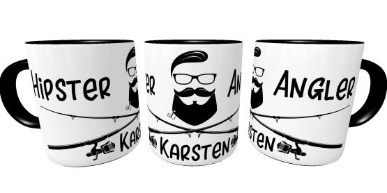 Kaffeetasse für Angler Hipster| Bürotasse I Sprüchetasse