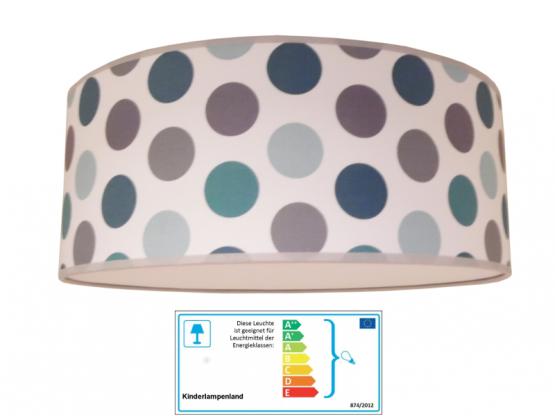 Juuldesign Deckenlampe Dots grau-blau